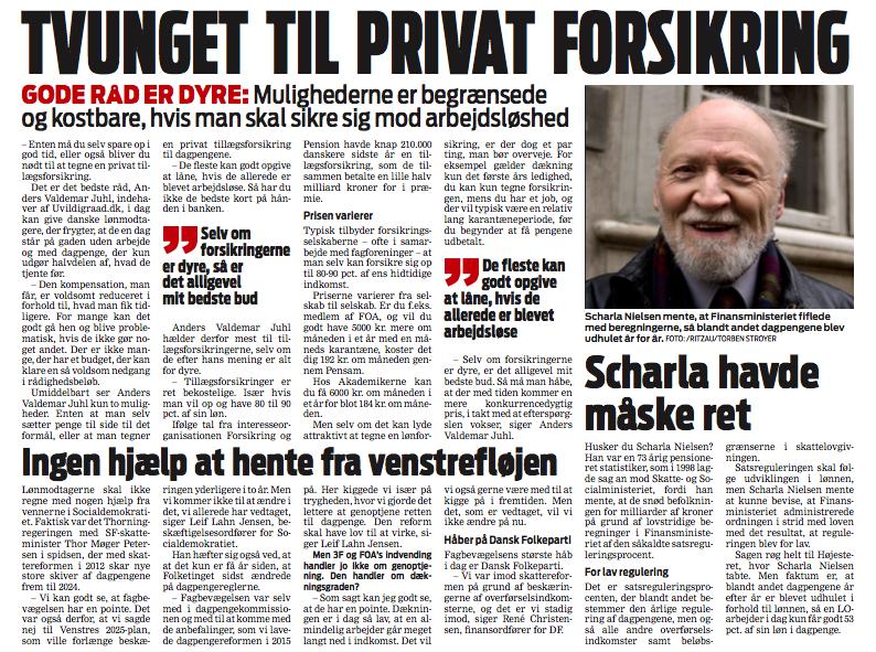Ekstrabladet artikel